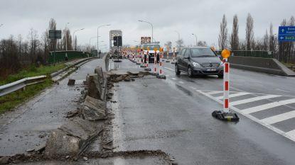 Verkeerswisselaar wordt veiliger: betonnen muur wordt ingekort en asverschuiving vertraagt verkeer