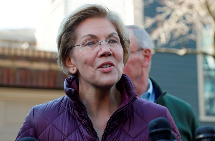 La sénatrice Elizabeth Warren.