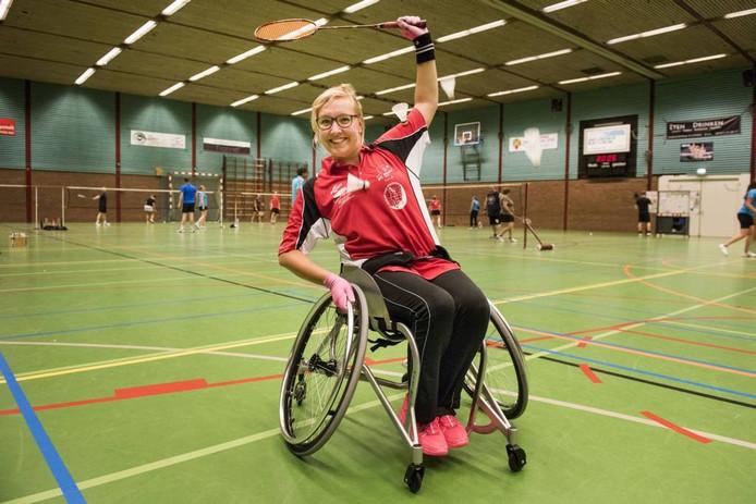 Mylène Pijpers-Rombouts schat de kans dat ze mee mag doen aan het EK rolstoeltennis op 98 procent. foto Edwin Wiekens/Pix4Profs