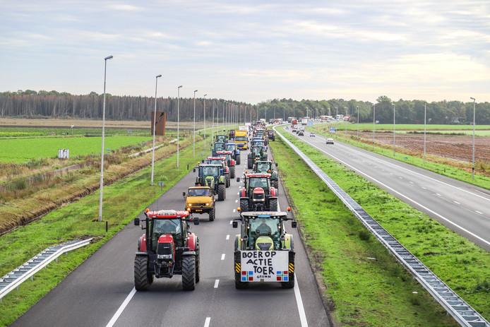 Het boerenprotest in Groningen.