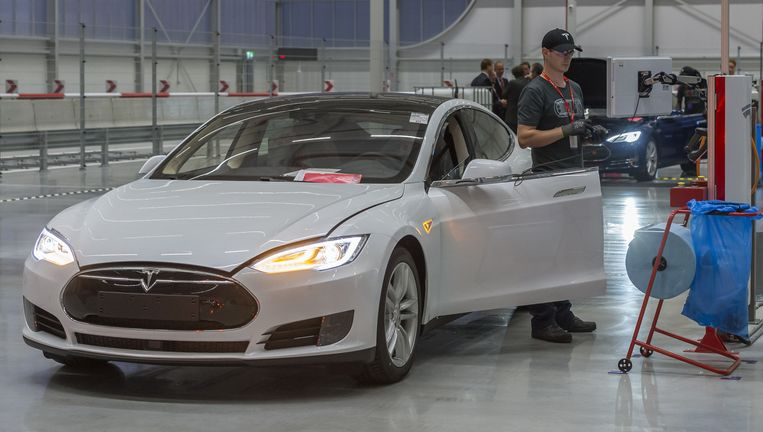 De Tesla-fabriek in Tilburg. Beeld anp