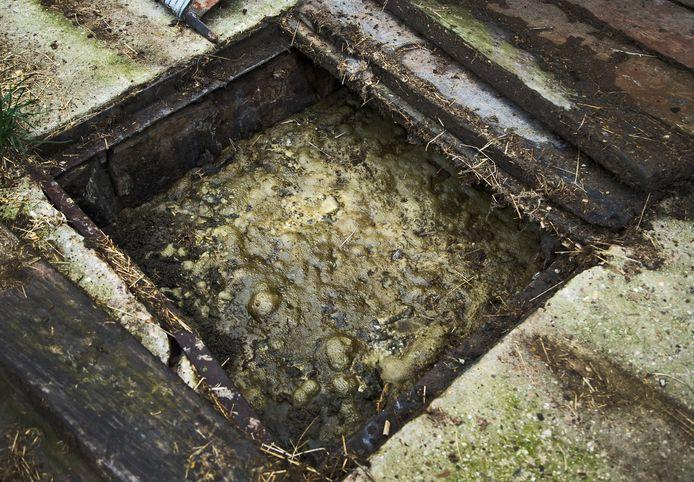 In Schalkwijk werd drugsafval in de mestkelder weggegooid.