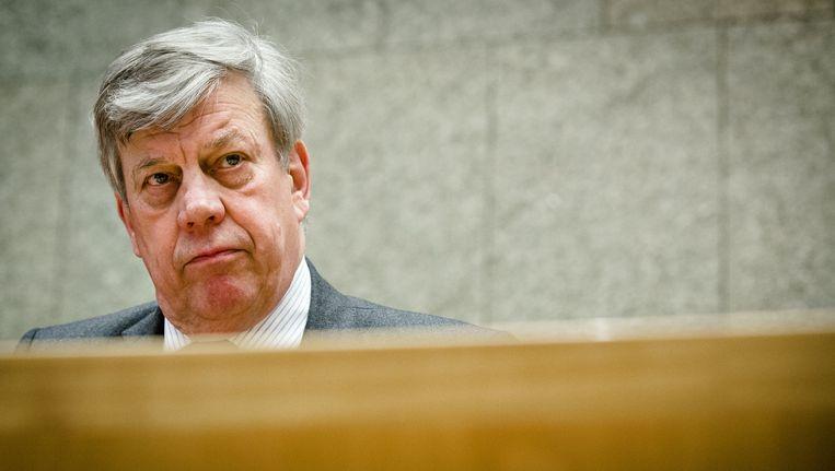 Een getuigenverhoor van Opstelten (foto), Teeven en Demmink is toegestaan door de rechtbank van Amsterdam. Beeld ANP