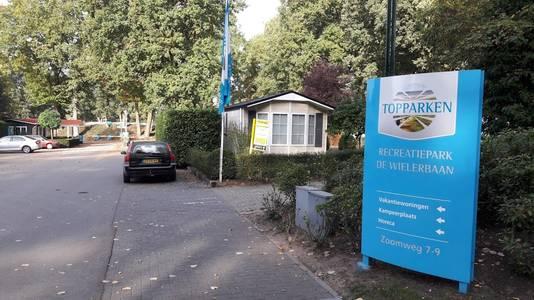 De entree van vakantiepark De Wielerbaan in Wageningen