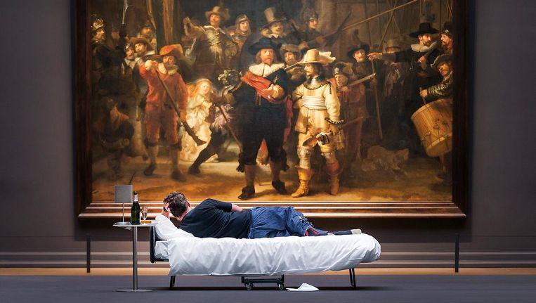 Stefan Kasper in het Rijksmuseum Beeld Olivier Middendorp