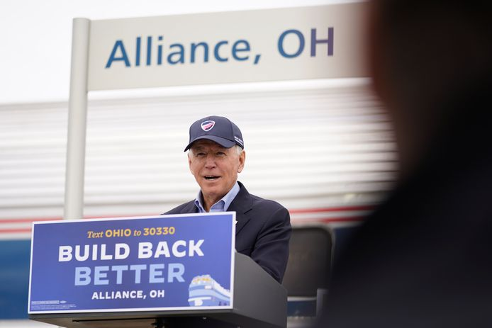 Joe Biden s'exprimant mercredi à Alliance