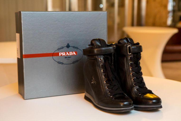 Prada-schoenen, slechts eenmaal gedragen.