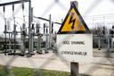 Foto ter illustratie, een elektriciteitsverdeelstation.