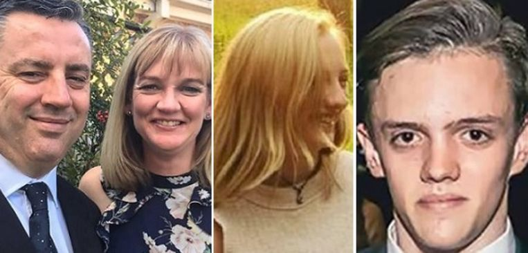 Anthony (51) en Kristine (45), Winona (17) en Jesse (19)Langford.