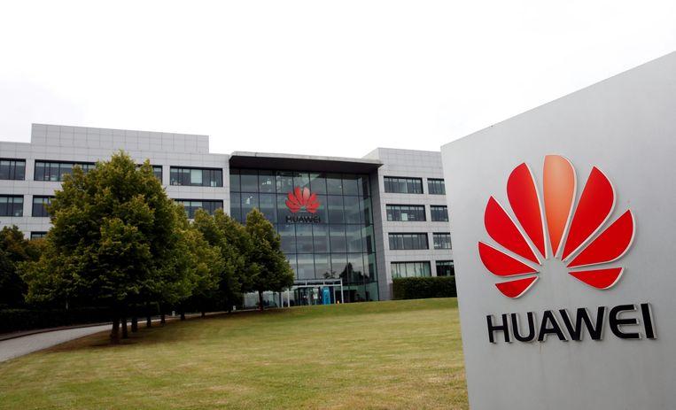 Het Britse hoofdkantoor van Huawei in Reading. Beeld Reuters