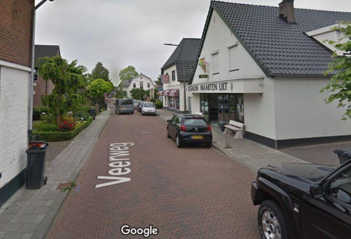 De Veerweg, waar de tas van de vrouw werd gestolen.
