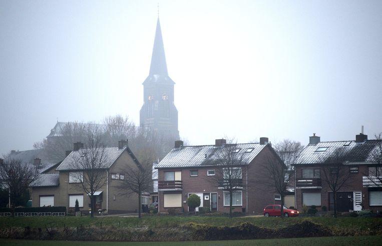 In Zuid-Limburg viel gisteravond de eerste sneeuw. Beeld anp