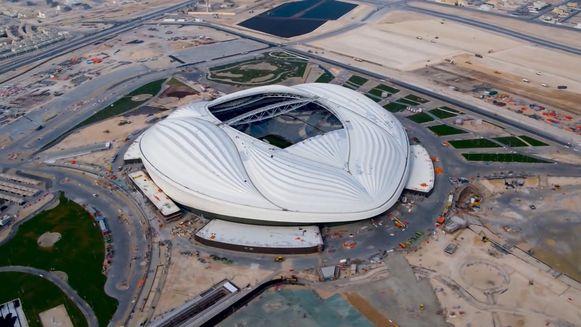 Het eerste afgewerkte stadion voor het WK in Qatar
