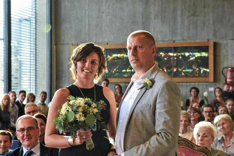 Schepen Jo Neirynck en Griet Verbeke gaven elkaar hun ja-woord.