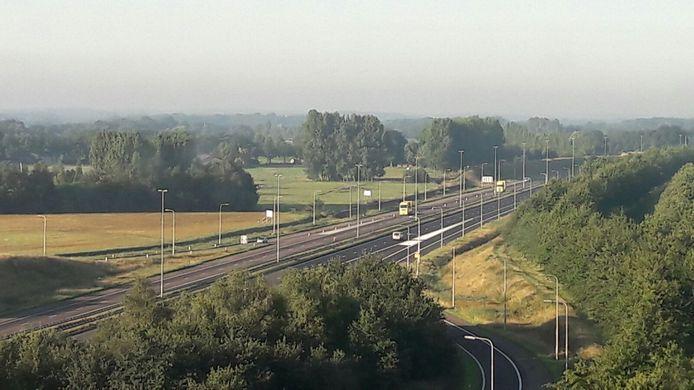 Het verkeer moest bij Etten-Leur van de snelweg af.