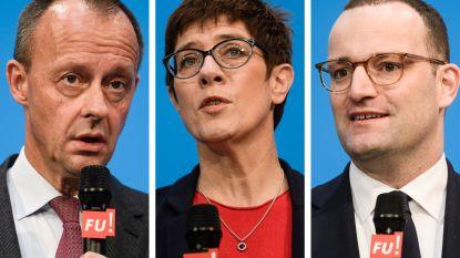 Duitse CDU kiest nieuwe voorzitter en die maakt veel kans om Angela Merkel op te volgens als bondskanselier: dit zijn de kandidaten