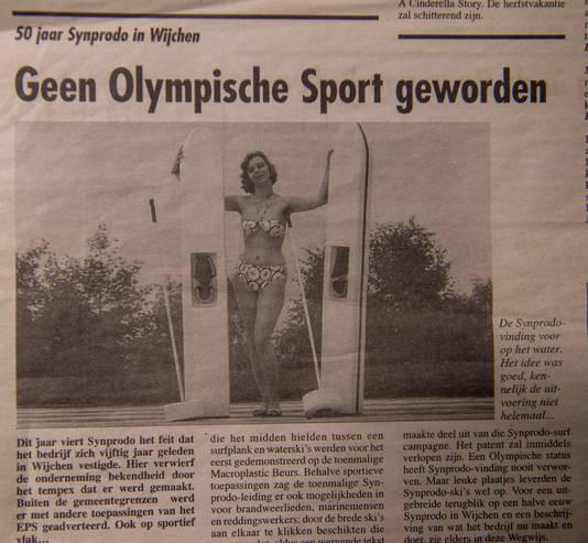 Oud krantenknipsel uit lang vervlogen Wijchense tijden.