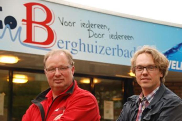 Geb Dokter (links)  en Harco Mulder zaten in de teams die voor het Berghuizer Bad meededen aan de Scan Covery Trial