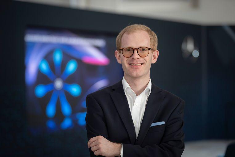 """Onderzoeker Andreas Hintennach van Daimler AG: """"We zullen het nog jaren met lithium-ionbatterijen moeten doen. Maar de organische batterij is veelbelovend"""".'"""