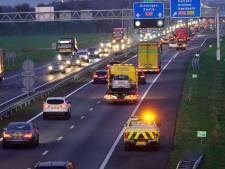 File door ongeval met personenauto op A28 bij Wezep