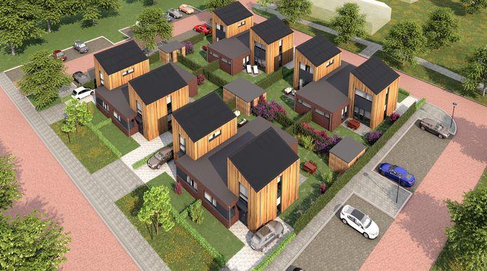 Projectontwikkelaar Kroon gaat acht levensloopbestendige woningen bouwen op de plek waar nu nog de Ontmoetingskerk staat.