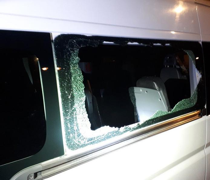 De vernielde taxibus