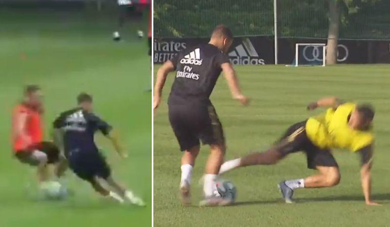 Zijn ploegmaats leerden Eden Hazard inmiddels al kennen op training...
