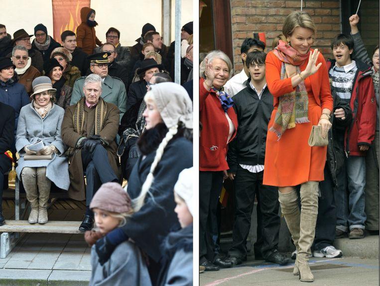 """""""Krakelingenstoet"""" in Geraardsbergen, februari 2017 (links) / Bezoek aan pedagogisch centrum in Brussel, maart 2010 (rechts)"""