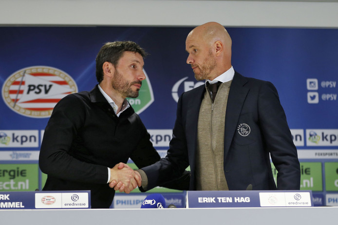 Mark van Bommel (links)en Erik ten Hag.