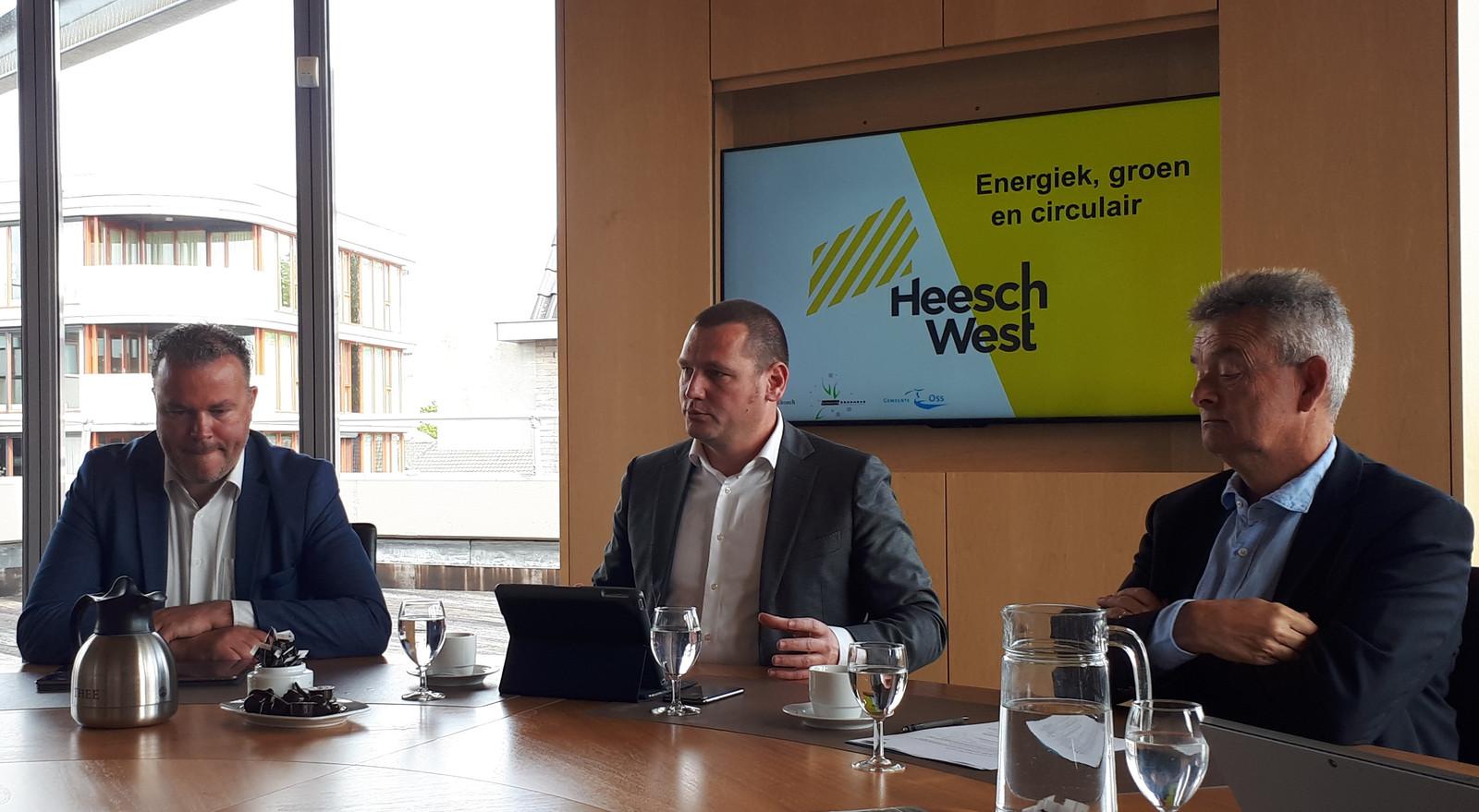 De wethouders Frank den Brok, Roy Geers en Rien Wijdeven vertellen over Heesch West.