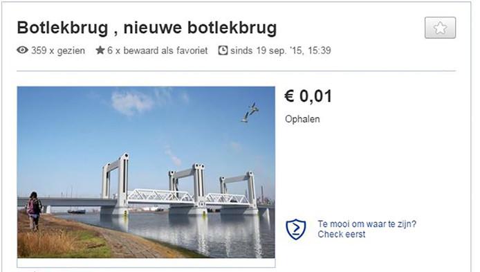 48e7977f2e2 Nieuwe Botlekbrug te koop op Marktplaats: 1 cent | Voorne-Putten | AD.nl