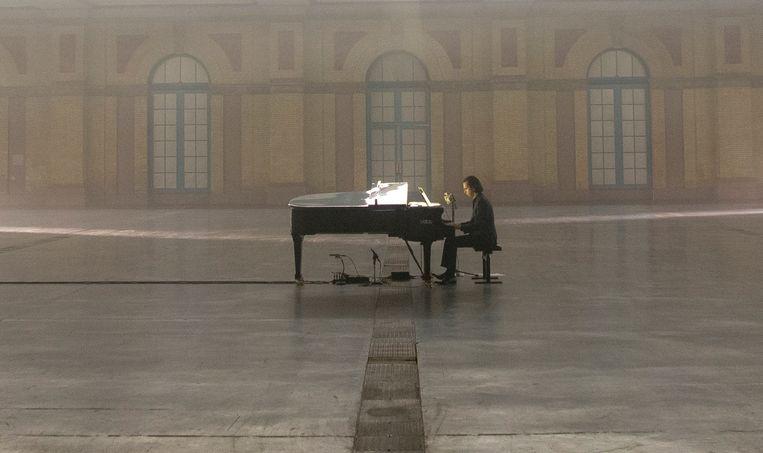 Nick Cave in het Alexandra Palace in Londen.  Beeld