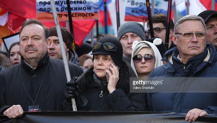 Irina Prochorova in het Bolsjoi Theater in Moskou, waar de première van de voorstelling Noerejev werd uitgesteld. Beeld getty