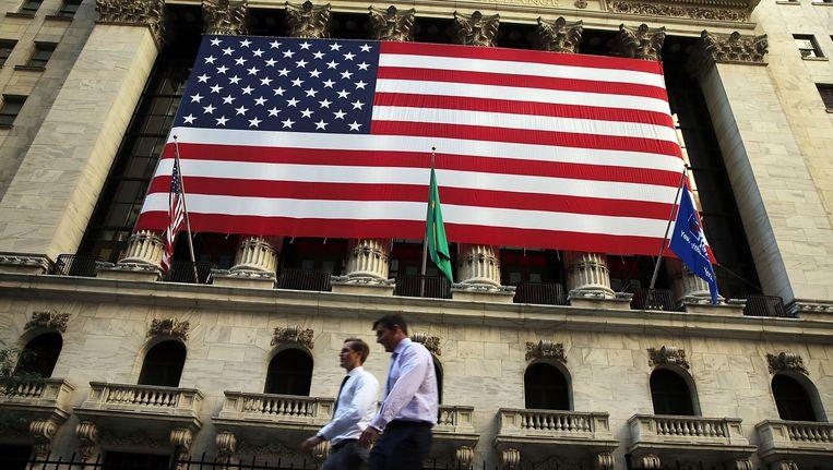 Exterieur van de New York Stock Exchange. Beeld afp