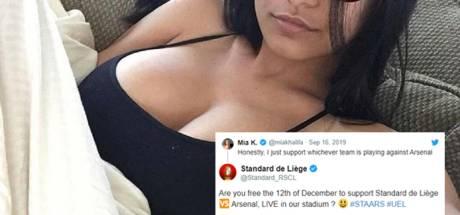 Le Standard invite la pornstar Mia Khalifa pour le choc contre Arsenal
