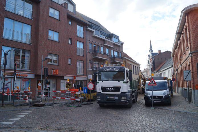 De werken in de Ieperstraat speelden ook een rol bij de beslissing om de knip te schrappen