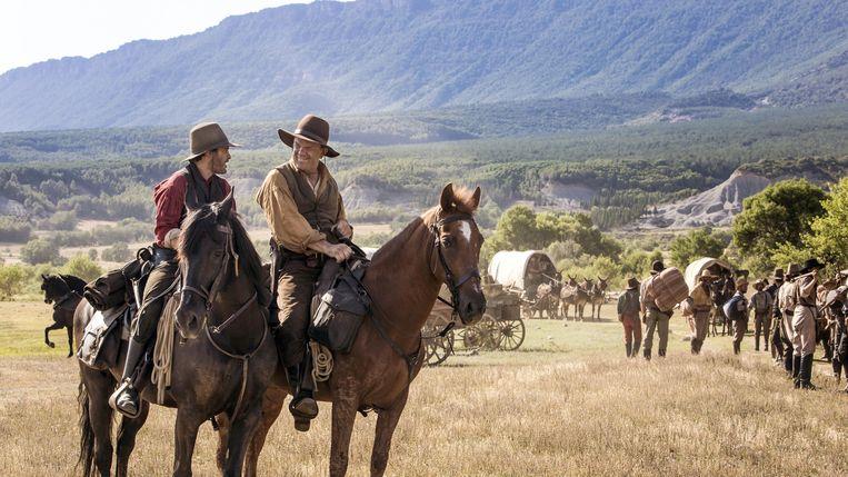Joaquin Phoenix en John C. Reilly als The Sisters Brothers.  Beeld Annapurna Pictures