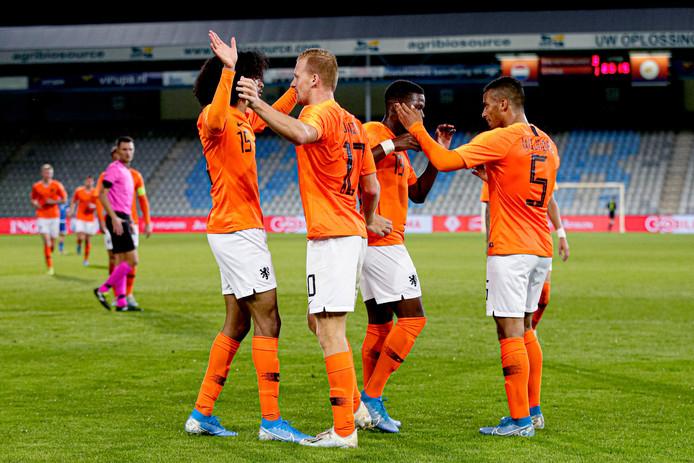 Jong Oranje won zijn vorige wedstrijd met 5-1 van Cyprus.