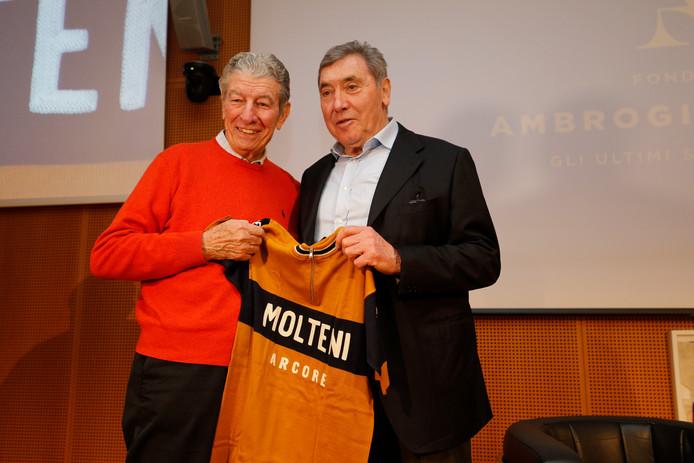 Felice Gimondi en Eddy Merckx.