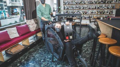 """Wijnbar ONA levert wijn met bakfiets tijdens lockdown: """"Drie weken zonder inkomen zou rampzalig zijn"""""""