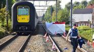 Telefonerende man wordt voor ogen van zoon gegrepen door trein