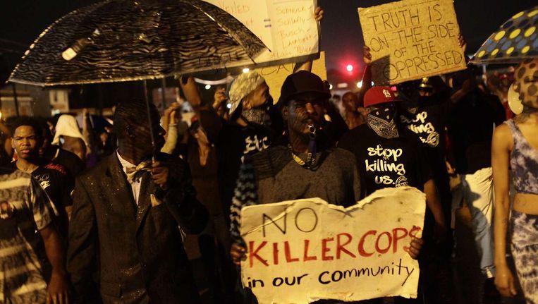 Protesten in Ferguson. Beeld afp