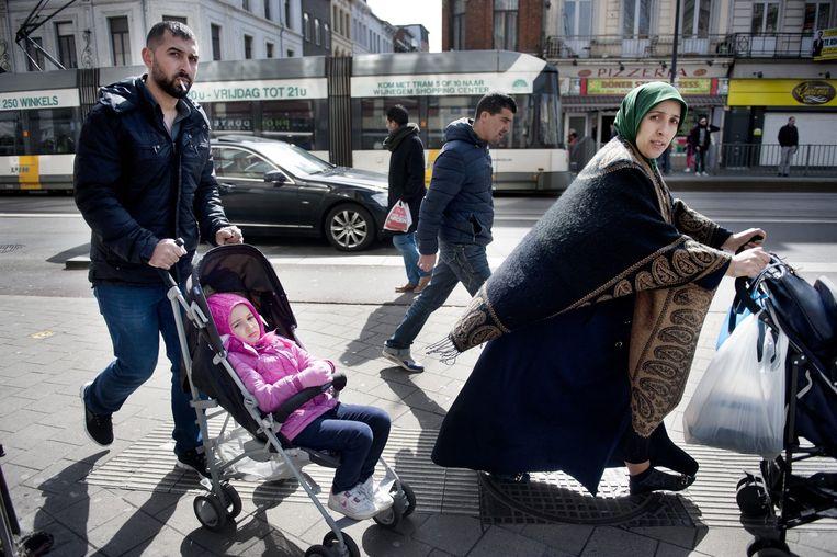 Borgerhout, Antwerpen. Burgemeester Bart de Wever deed opnieuw een uitspraak over discriminatie. Sommige allochtonen dienen een klacht in. Beeld An-Sofie Kesteleyn / de Volkskrant