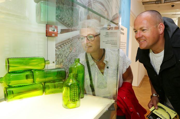 De nieuwe tentoonstelling Glas in Zicht in het museum.