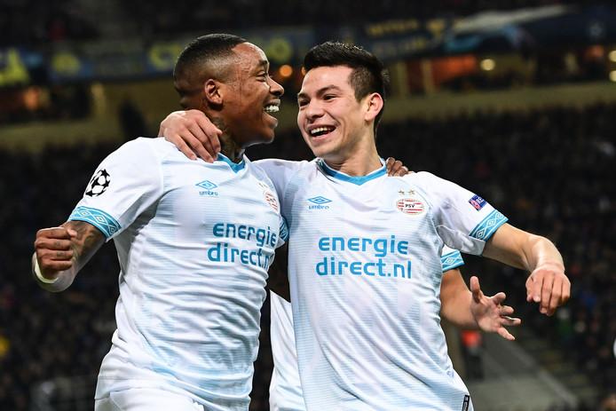 Steven Bergwijn en Hirving Lozano vertegenwoordigen voor PSV vele miljoenen.