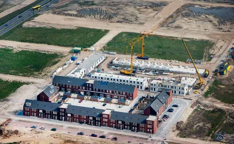 Nieuwbouwhuizen in Leidsche Rijn. Beeld null