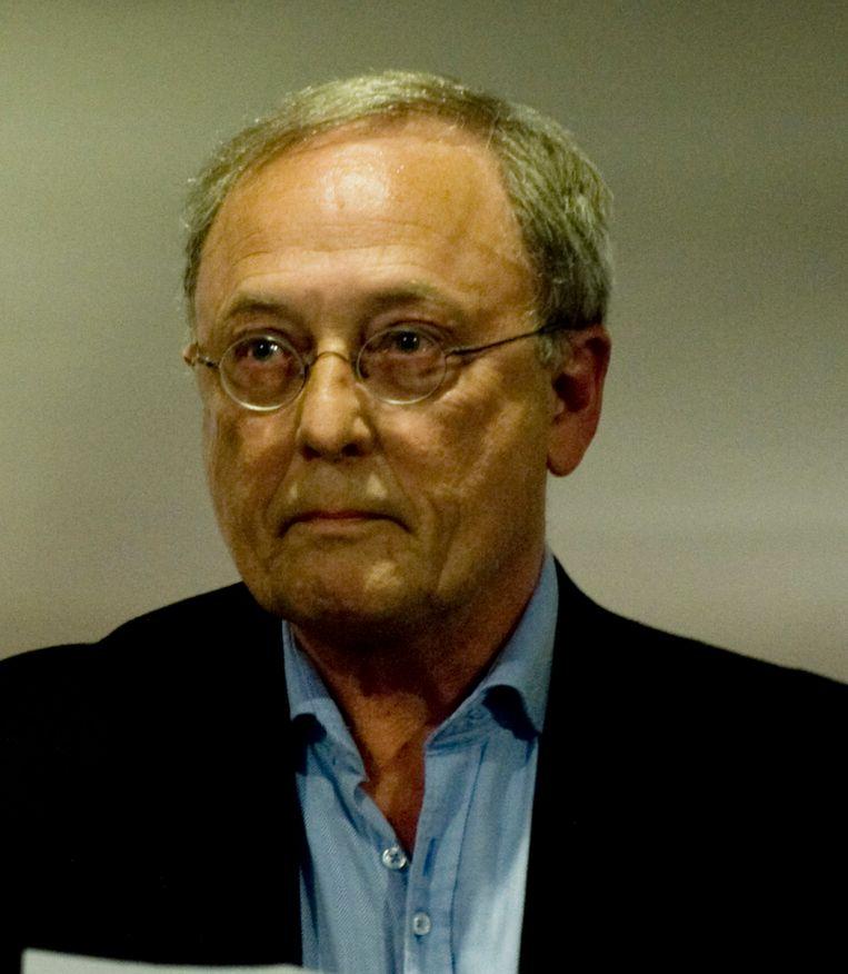 Volkskrantredacteur Ronald ten Brink bij zijn afscheid van de krant in 2012.  Beeld An-Sofie Kesteleyn