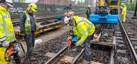 Komend weekend 's nachts geluidsoverlast door werk aan spoor in Amersfoort