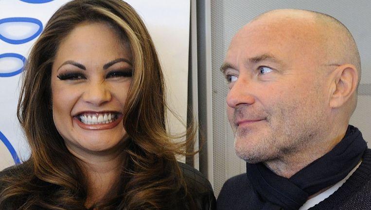 Phil Collins en Orianne Cevey in 2010.