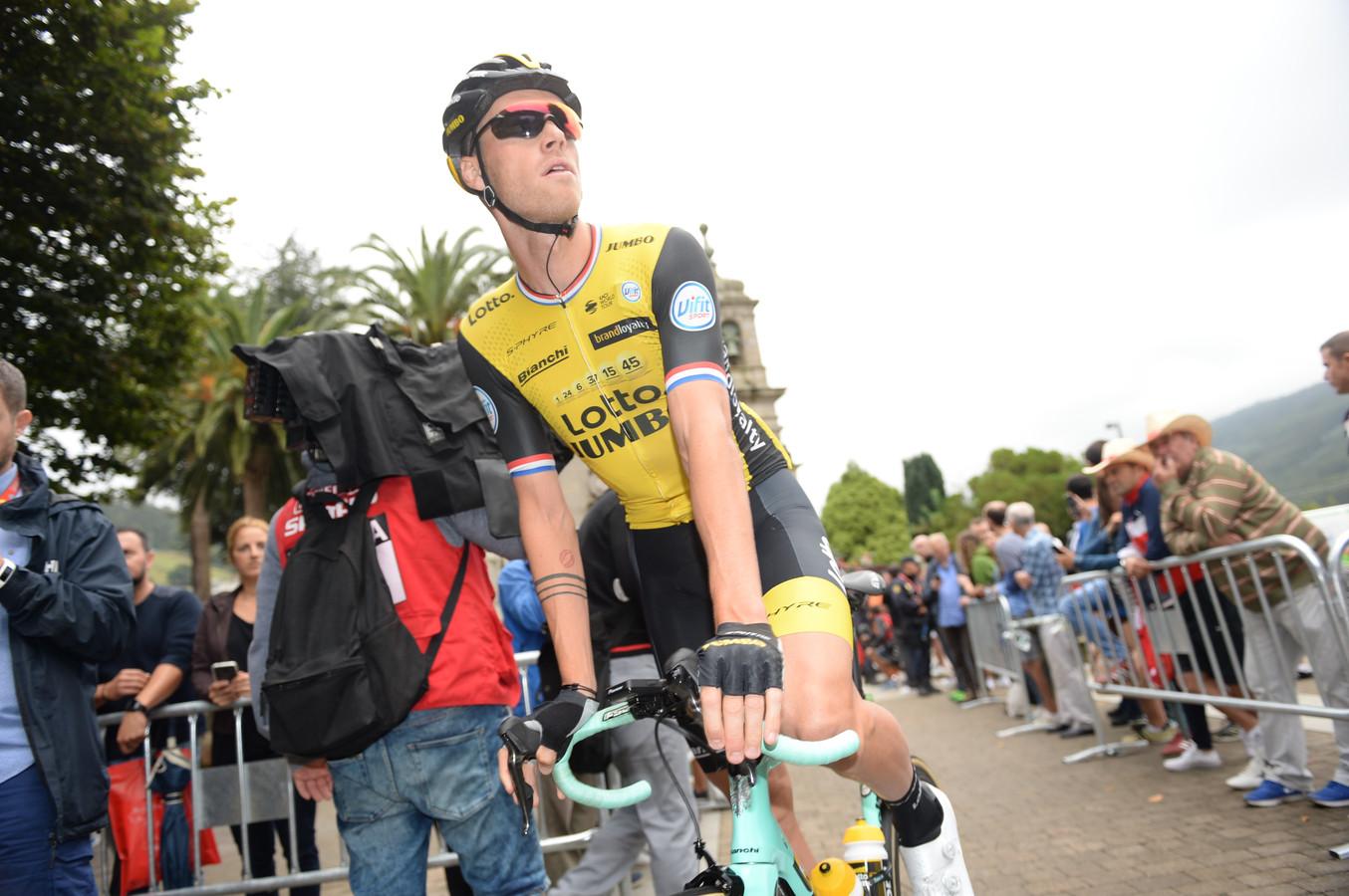 Lars Boom tijdens de Vuelta van 2018.